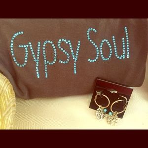 Tops - Gypsy Soul BLING ! Tee.